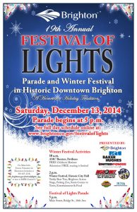 19th Annual Festival of Lights Parade and Tree Lighting Ceremony, Saturday, December 13, 2014