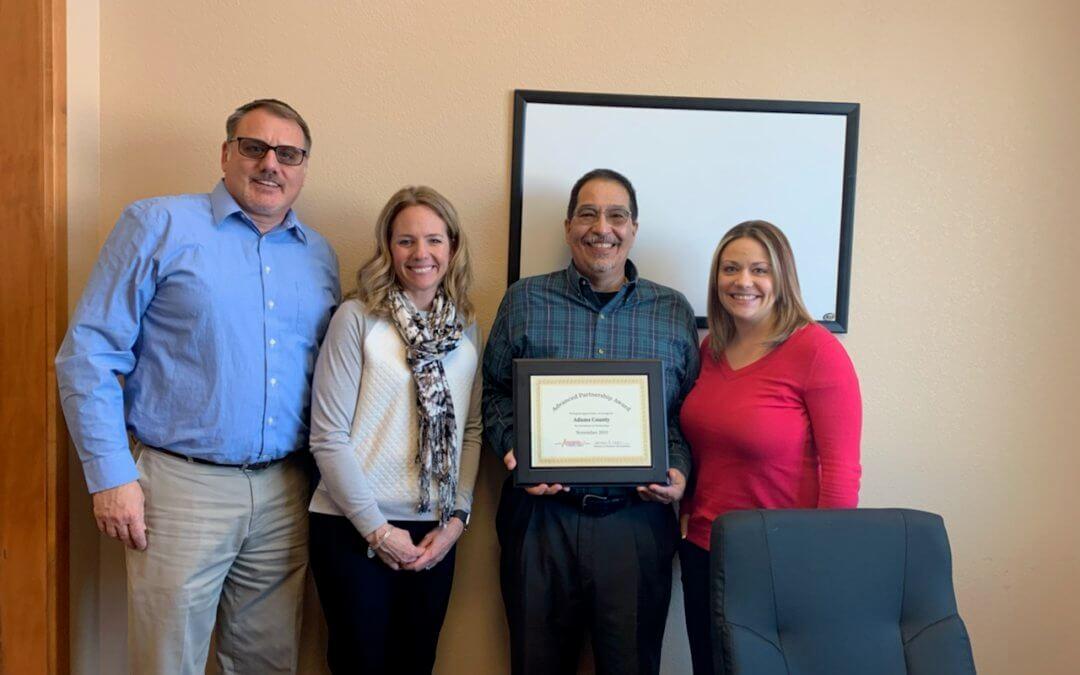 Adams County Receives Advanced Partnership Award