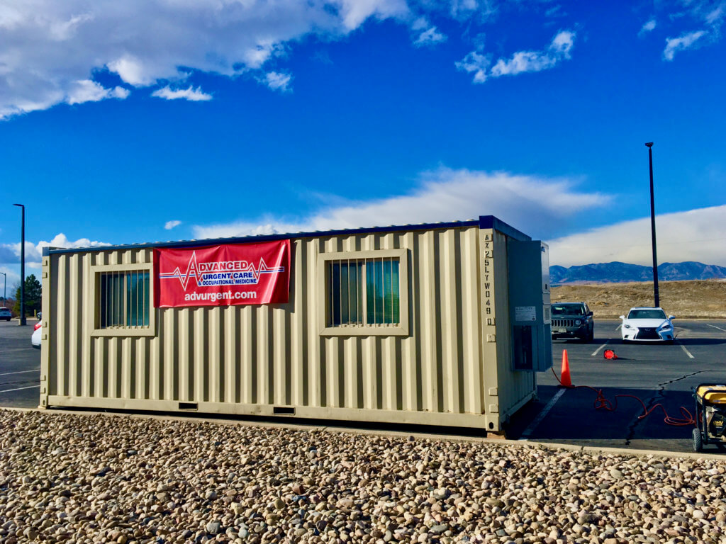 Picture of Drive-up COVID testing site in Westminster at Front Range Community College