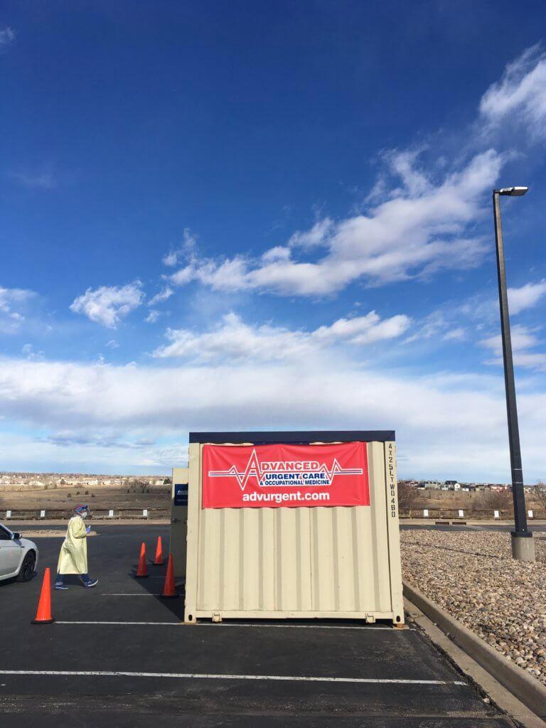 Drive up COVID Testing Site in Aurora